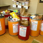 Image of food donation to MANNA food bank from Whittington Chiropractic